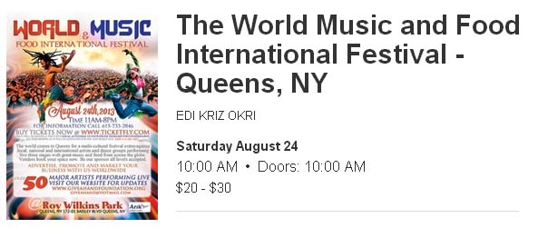World Music and Food Festival Queens NY