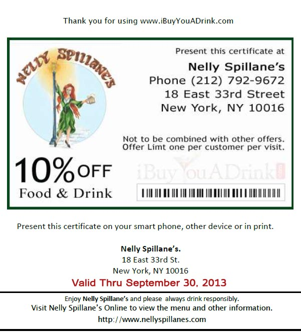 Nelly Spillanes NYC Restaurant Discount