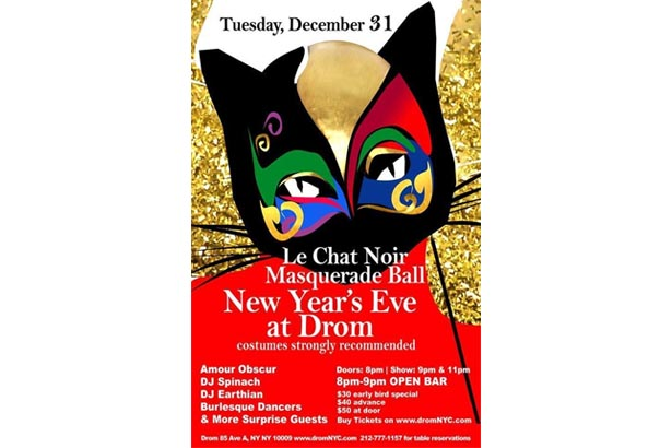 New Years Eve NYC at DROM -Masquerade Ball Tickets On Sale